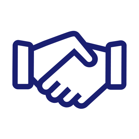 Illustration of handshake for loyalty.