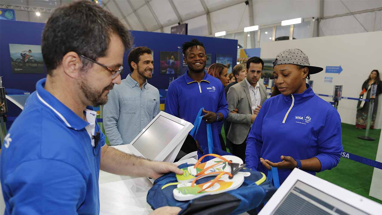 Team Visa Athletes Celebrate Rio 2016 Megastore Opening